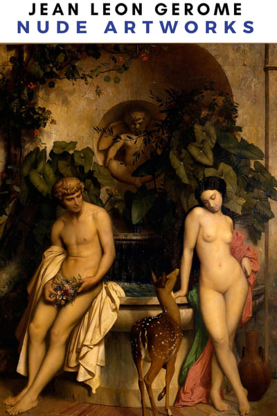 Jean Leon Gerome Nude Artworks Poster - Couple Nude