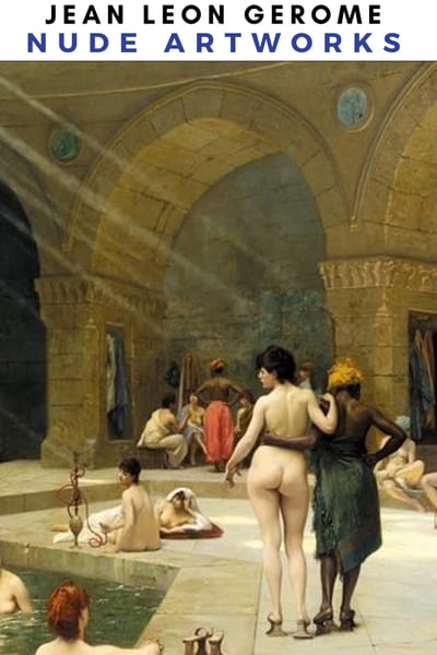 Jean Leon Gerome Naked Artworks Poster -  Harem Nude