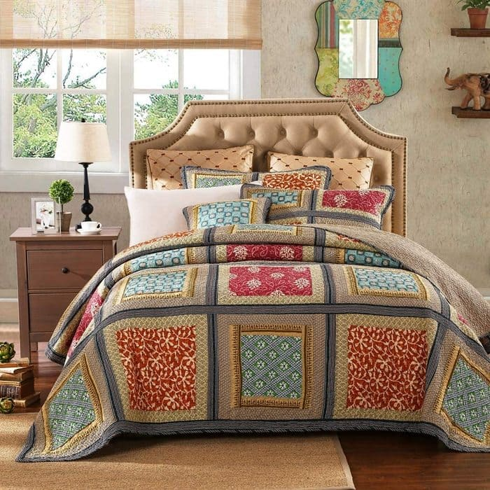 Bohemian Pattern - Breathable Reversible - Bedroom's Bedspreads & Coverlet