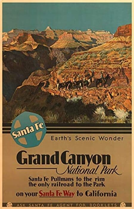 National Park Poster Decor - Grand Canyon