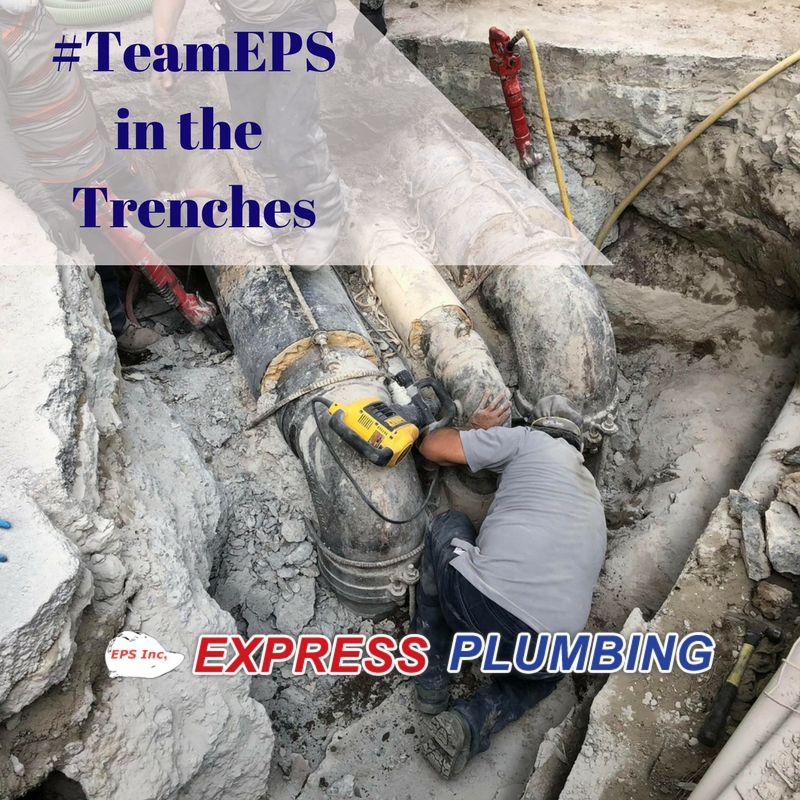 Bay Area underground pipe repair by eps express plumbing