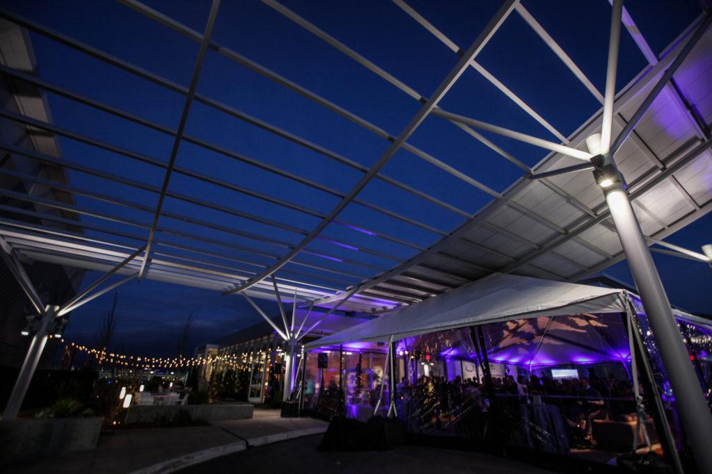 outdoor evening tent