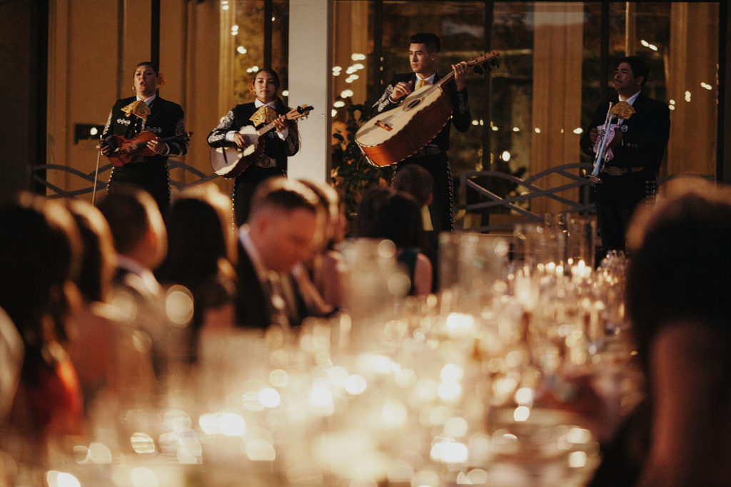 Mariachi band performs at the wedding reception and lovingly serenaded the guests of Justin & Jo's wedding ceremony organized by Amazae Events Wedding Planner San Jose California