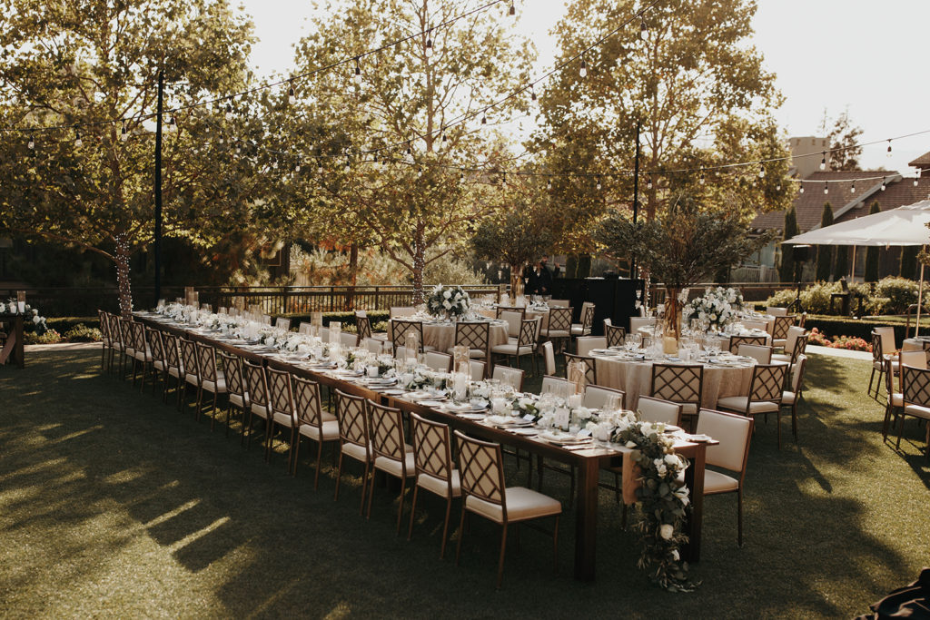 Rosewood Sand Hill Reception Set Up Organized by Amazae Events Wedding Planner San Jose CA