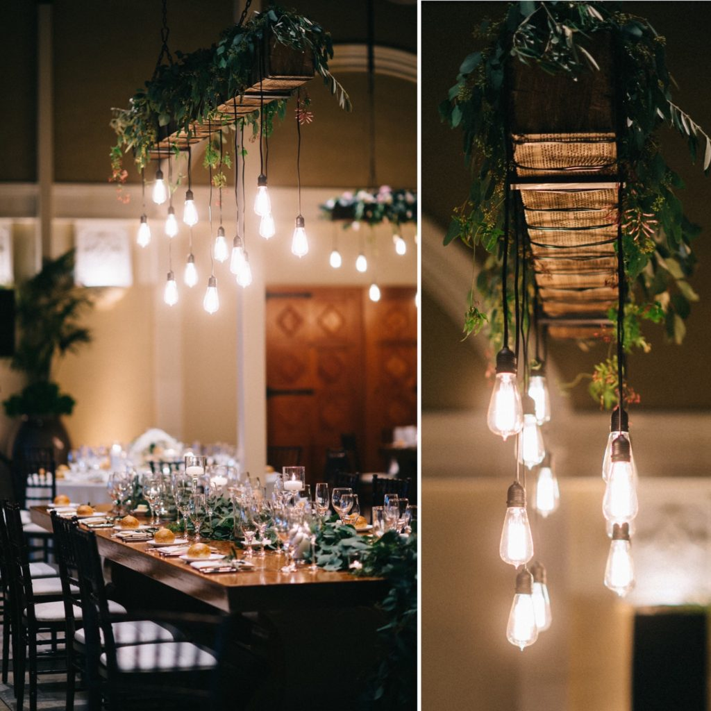 lighting rig above table