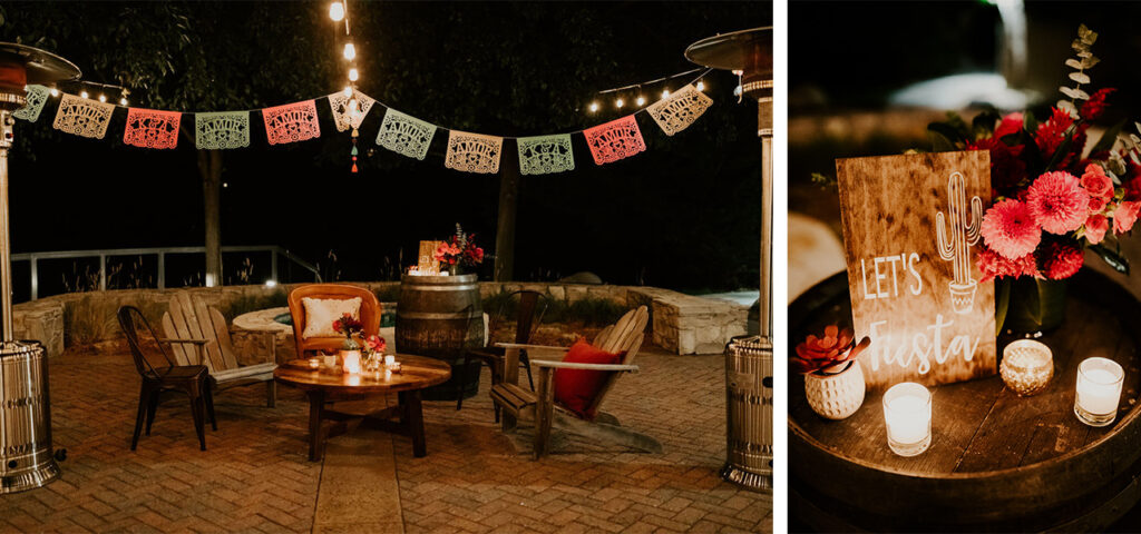 intimate seating for a fiesta