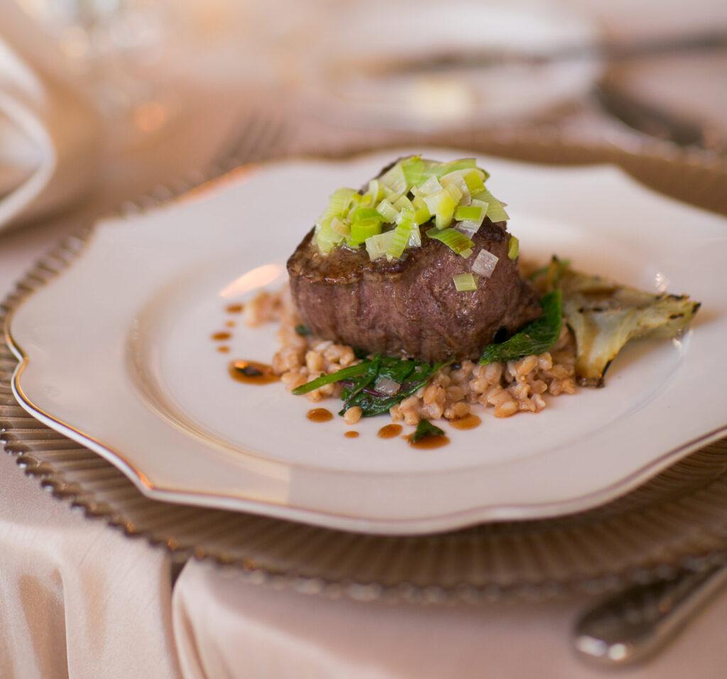 steak dinner for recpetion