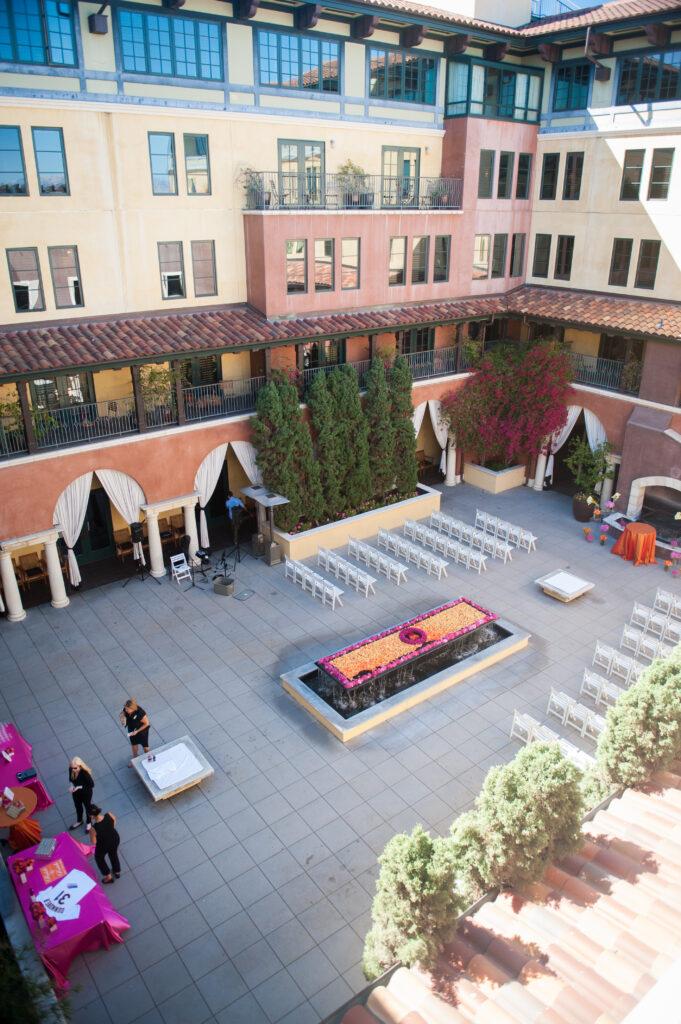 Hotel Valencia San Jose Courtyard wedding ceremony