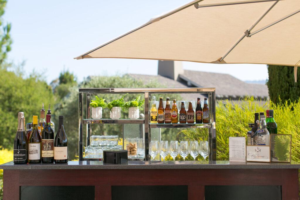 Bar at reception