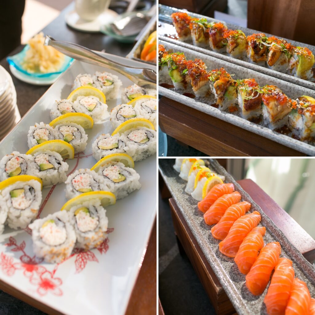 Sushi at wedding reception