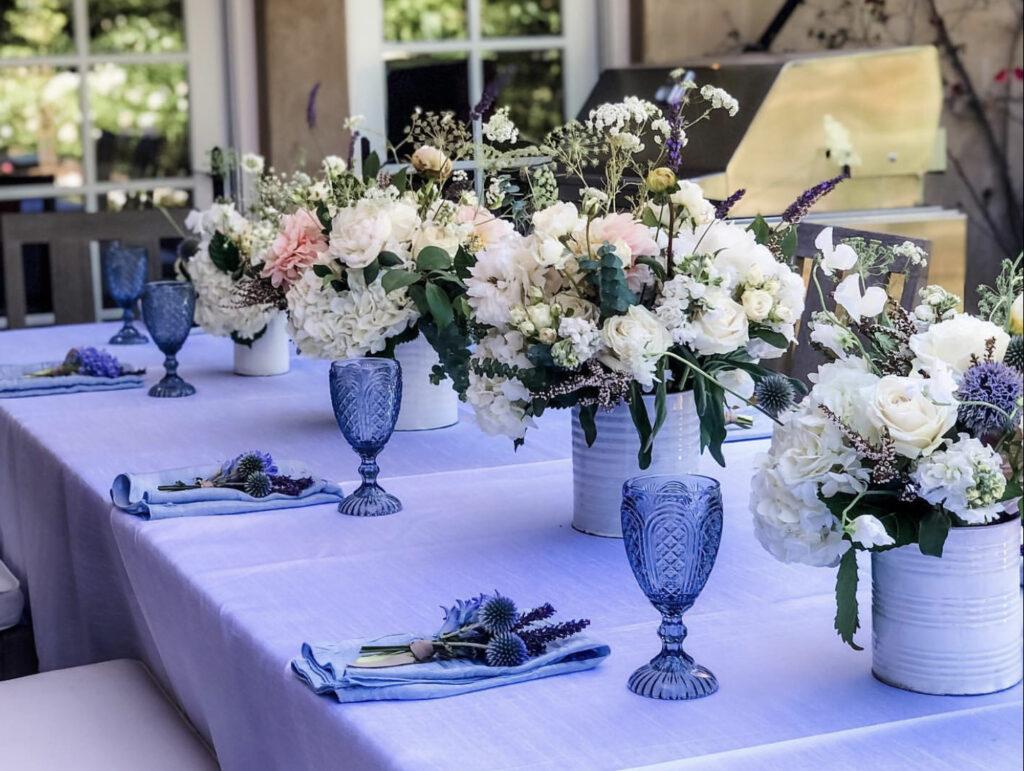 Apis Floral backyard dining table design
