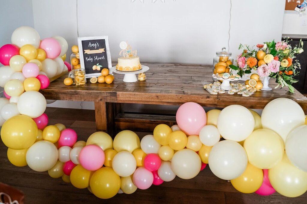 Party Fiesta Balloon Decor for virtual event