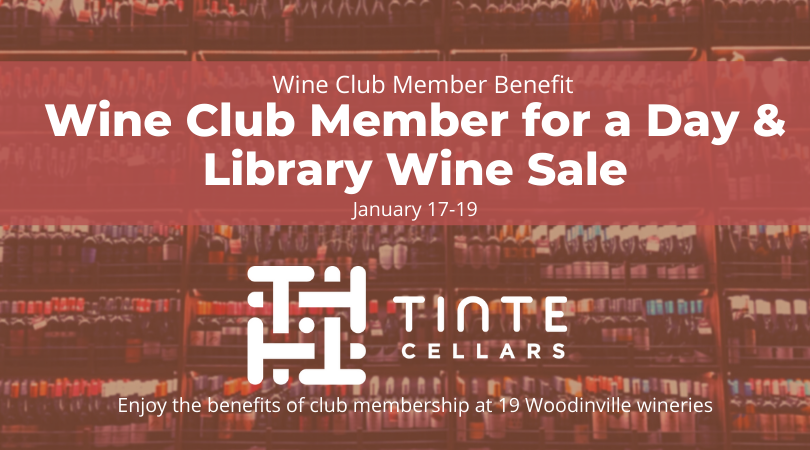 Wine Club Member for the Day + Library Wine Sale