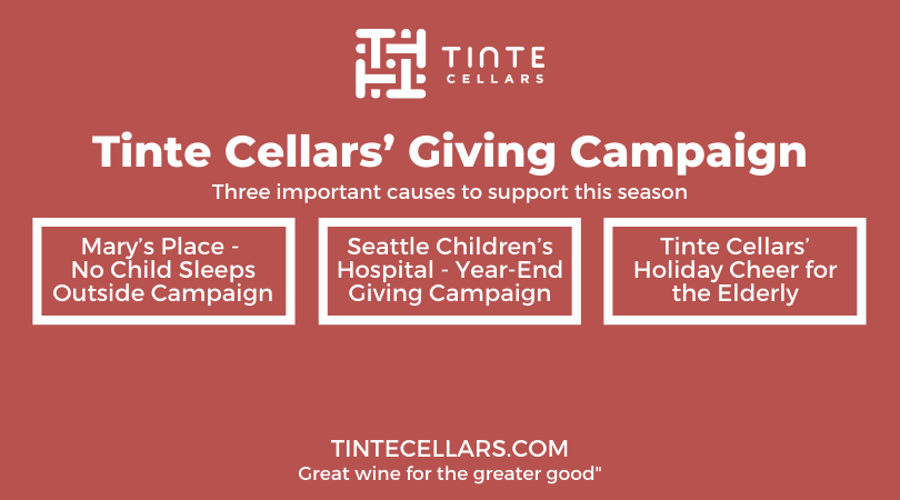 Tinte Cellars Giving Campaign