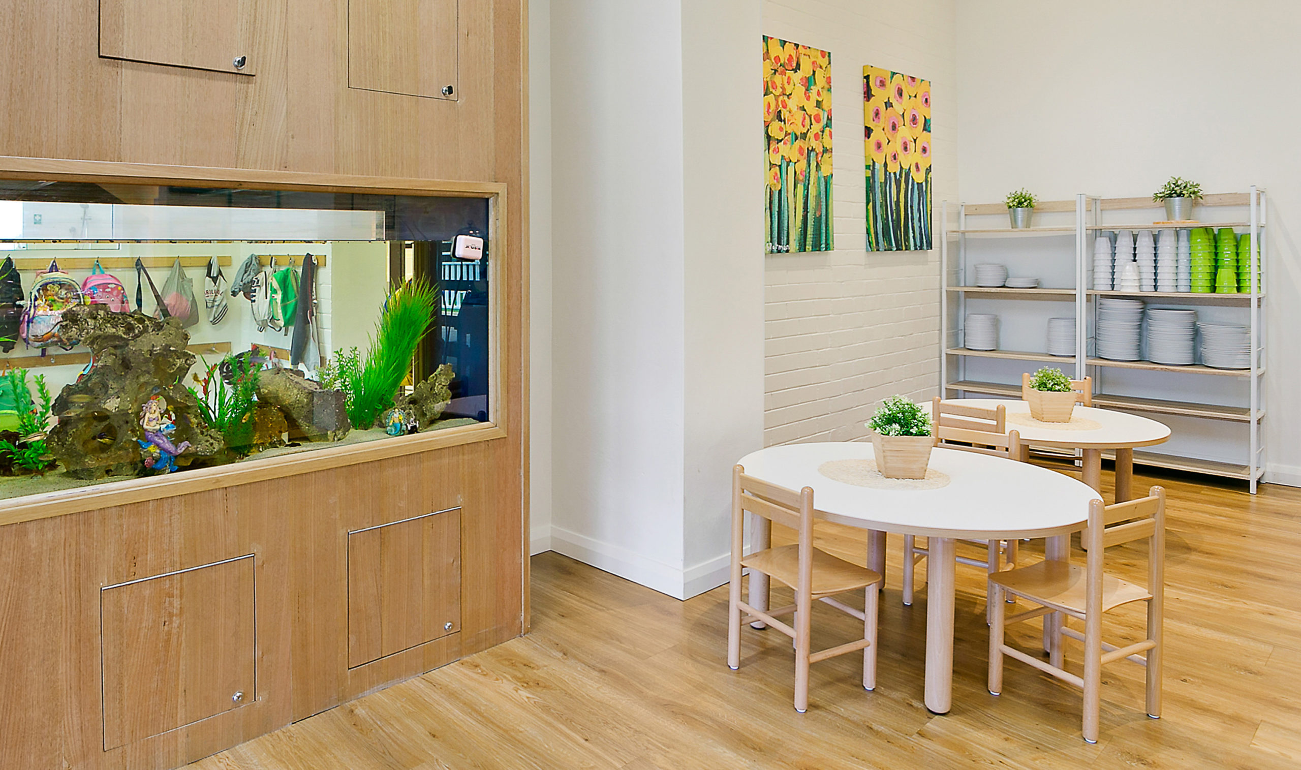Only About Children Childcare Surry Hills Fish Tank and Seating Area – Gardner Wetherill GW 01