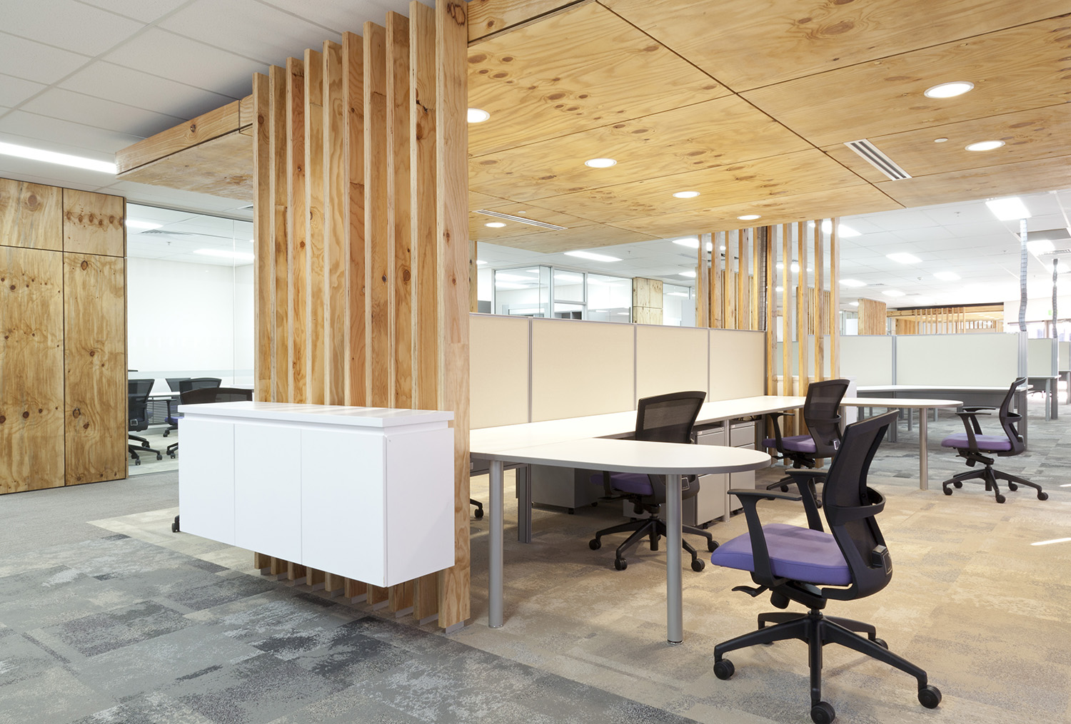 CNH Capital Commercial Offices Office Desk and Raw Timber Panelling – Gardner Wetherill GW 2