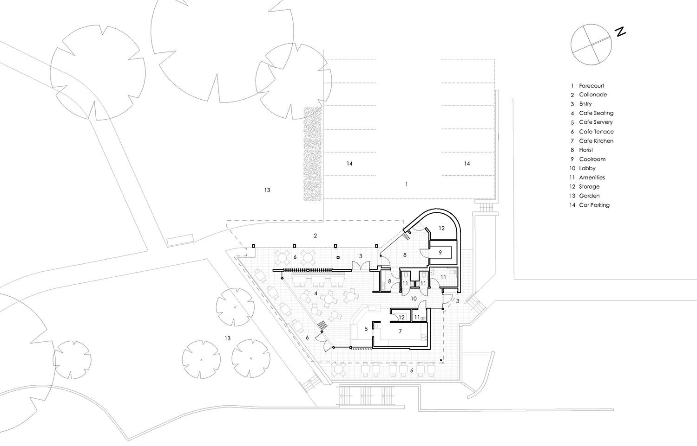 Cafe & Florist Macquarie Park Cemetery Architectural Floor Plan – Gardner Wetherill GW 5