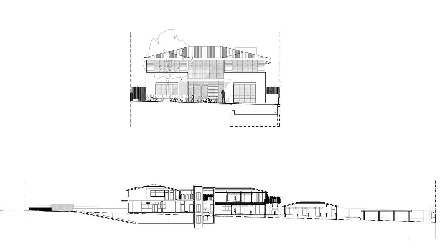 Epping Childcare Centre Architectural Elevation and Section – Gardner Wetherill GW Plan 03