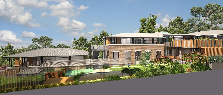 Epping Childcare Centre Exterior Facade Architectural Render – Gardner Wetherill GW 01