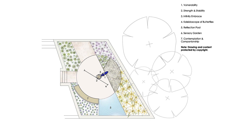 Hope & Sanctuary Sculpture Macquarie Park Cemetery Architectural Plan – Gardner Wetherill GW 4