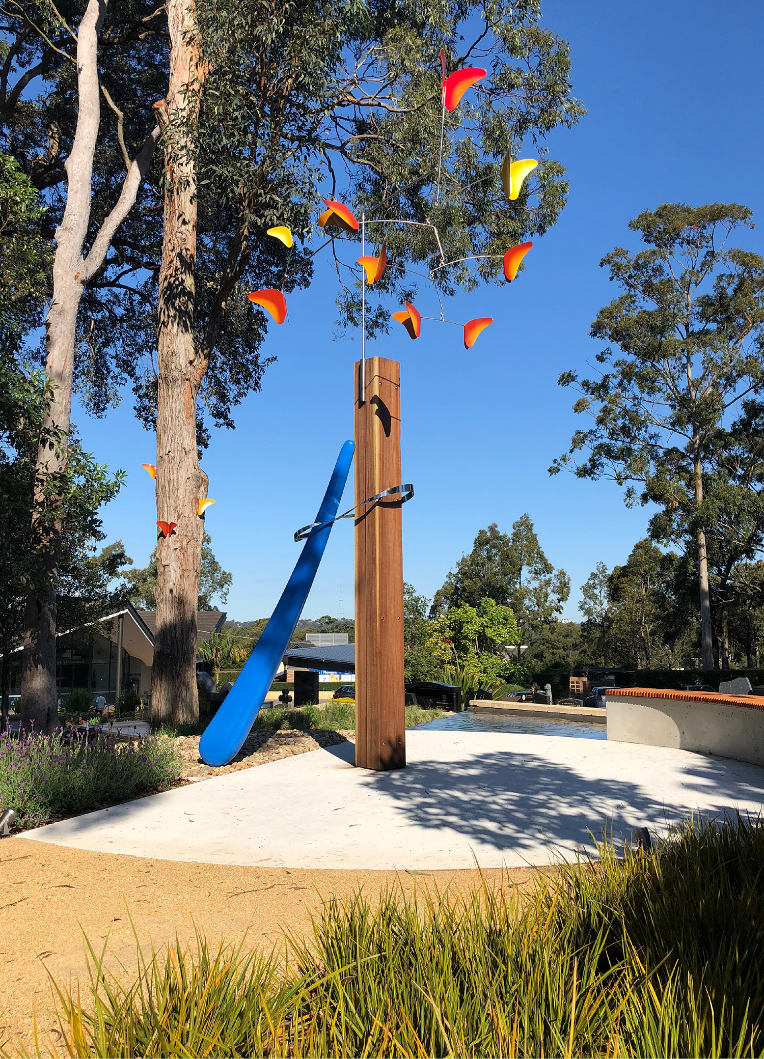 Hope & Sanctuary Sculpture Macquarie Park Cemetery Toby Wetherill – Gardner Wetherill GW 1