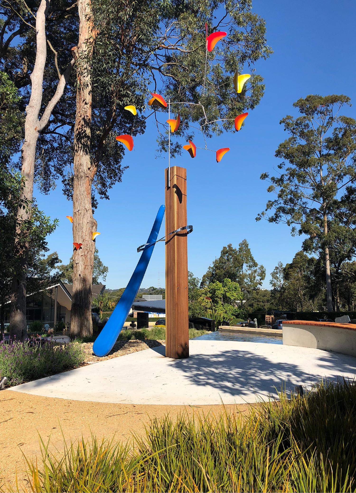 Hope & Sanctuary Sculpture Macquarie Park Cemetery Toby Wetherill – Gardner Wetherill GW 1