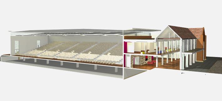 Knox Grammar School Sporting Facilities Architectural Section Render – Gardner Wetherill GW 3