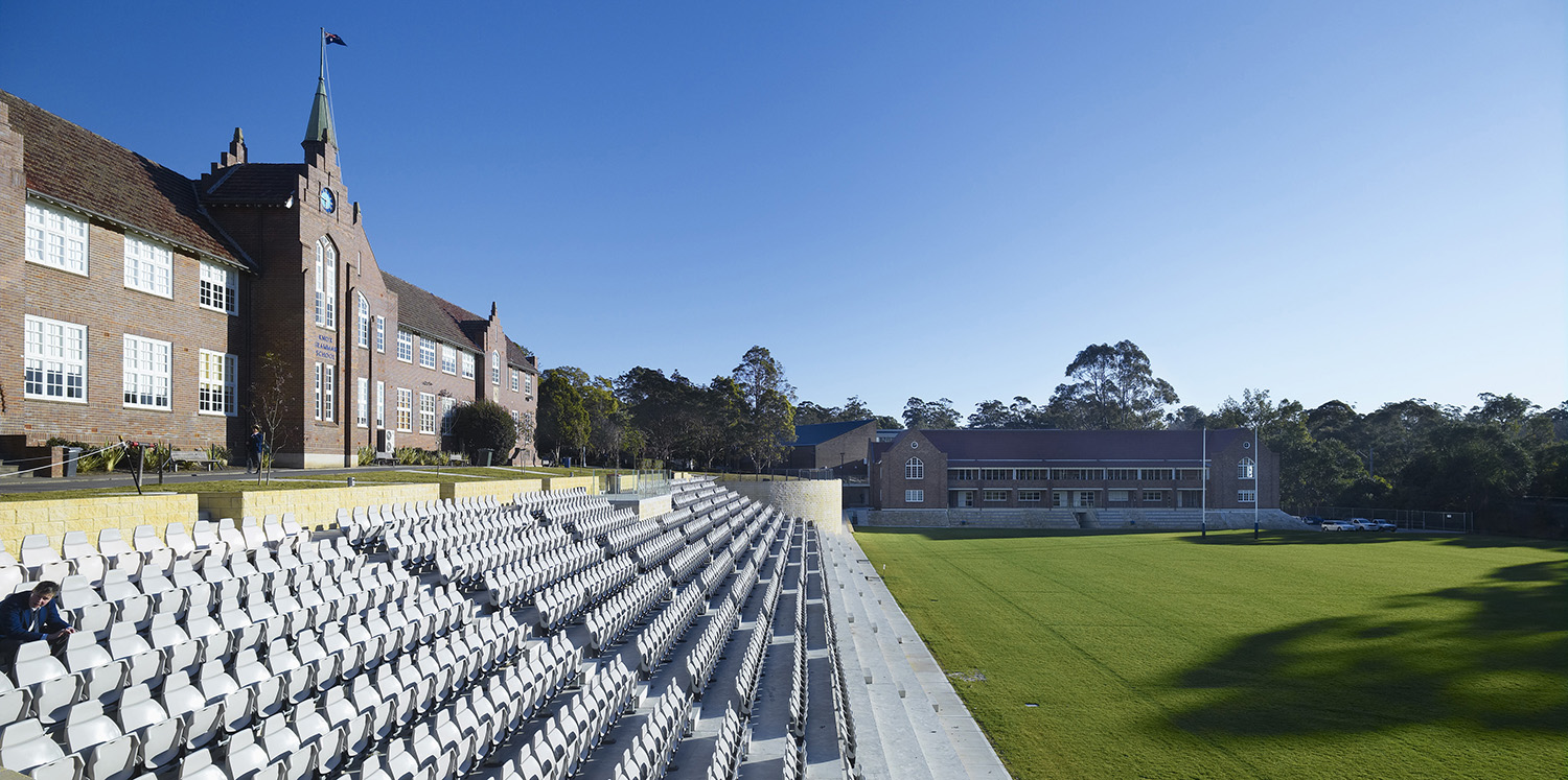 Knox Grammar School Sporting Facilities Grand Stand – Gardner Wetherill GW 1