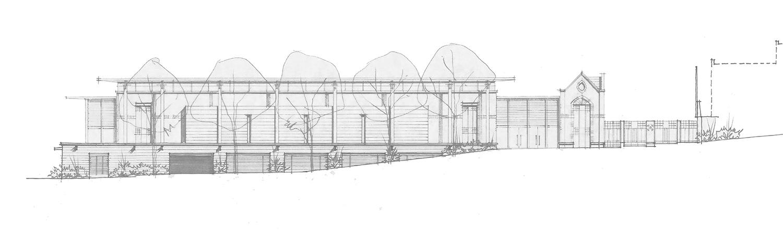 Knox Grammar School Sporting Facilities North Elevation Drawing – Gardner Wetherill GW 4