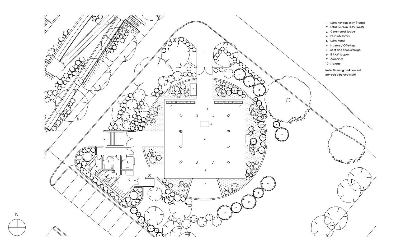 Lotus Pavilion Macquarie Park Cemetery Architectural Plan – Gardner Wetherill GW 7