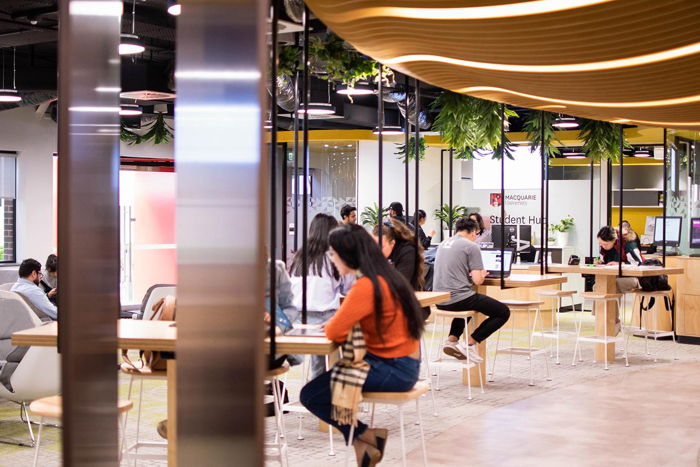 Macquarie University International College Student Precinct Seating Area – Gardner Wetherill GW 5