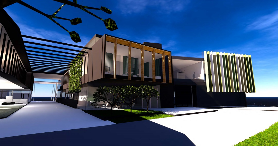 Moriah College Master Plan 3D Render of Exterior Architecture – Gardner Wetherill GW 2