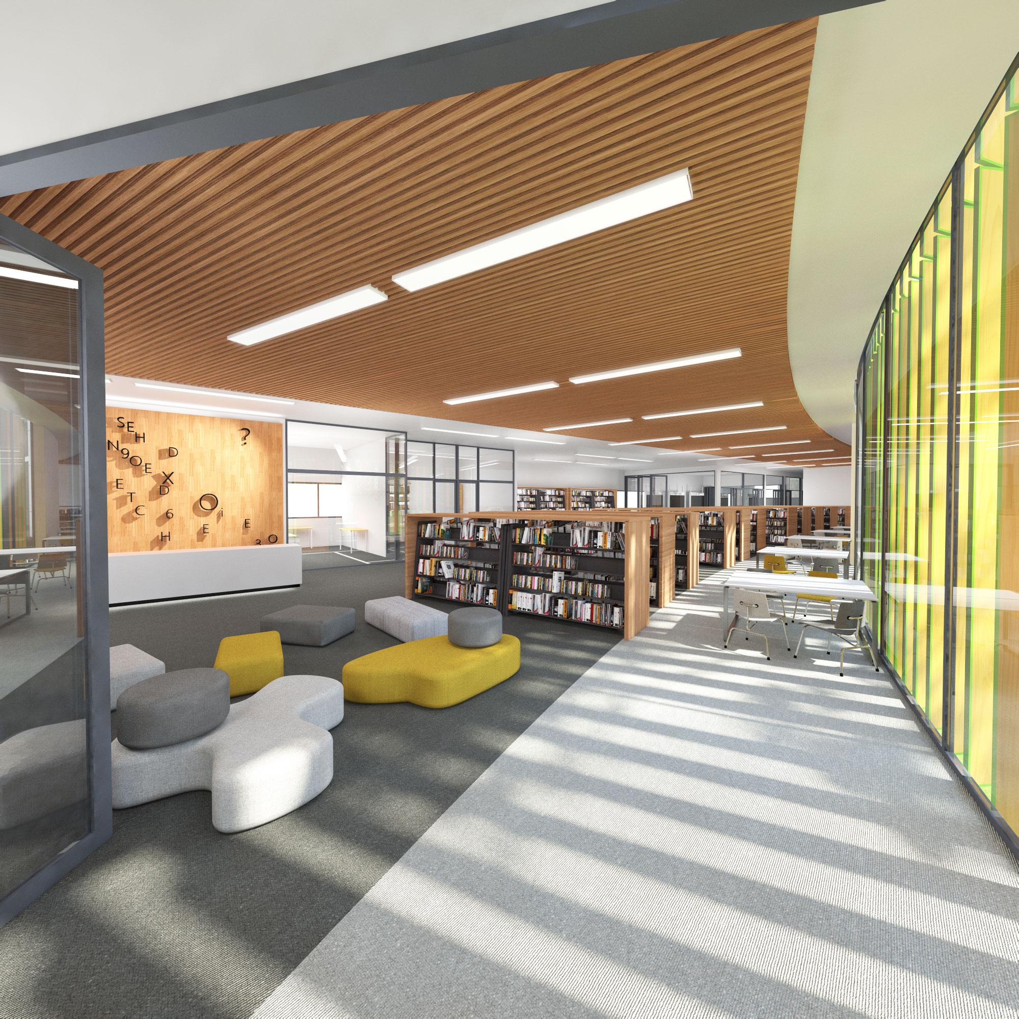 Moriah College Master Plan 3D Render of Interior Architecture – Gardner Wetherill GW 3