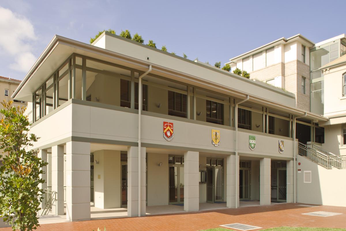 St Aloyisus College Sporting Facilities Exterior Facade – Gardner Wetherill GW 6