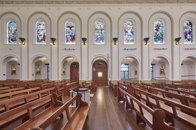 St Josephs College Chapel Architectural Refurbishment Seating Area Interior Design – Gardner Wetherill GW 3