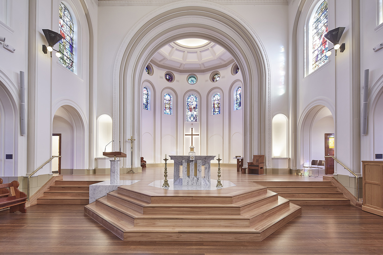 St Josephs College Chapel Architectural Refurbishment Stage Area Interior Design – Gardner Wetherill GW 2