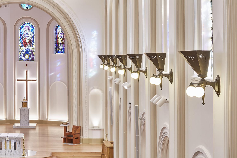 St Josephs College ChapelArchitectural Refurbishment Lighting Detail – Gardner Wetherill GW 4