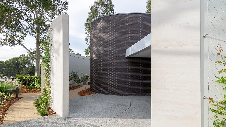 The Rose Chapel Macquarie Park Cemetery Entry – Gardner Wetherill GW 2