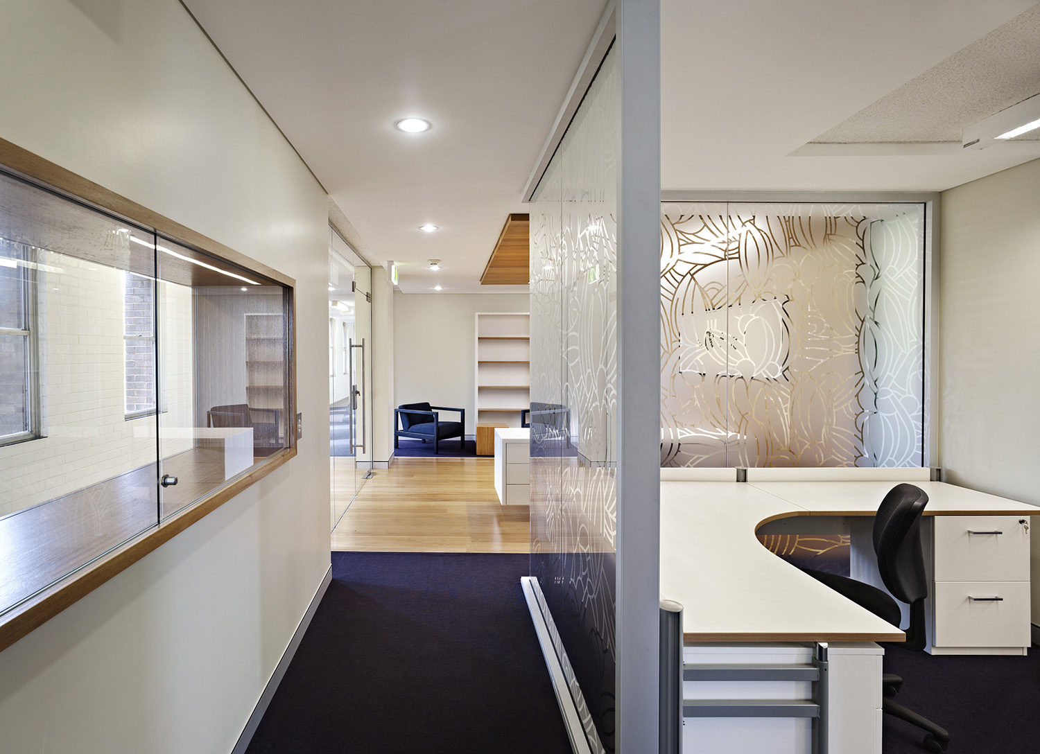 UNSW Confucius Institute Workplace Office and Hallway Interor Design – Gardner Wetherill GW 3