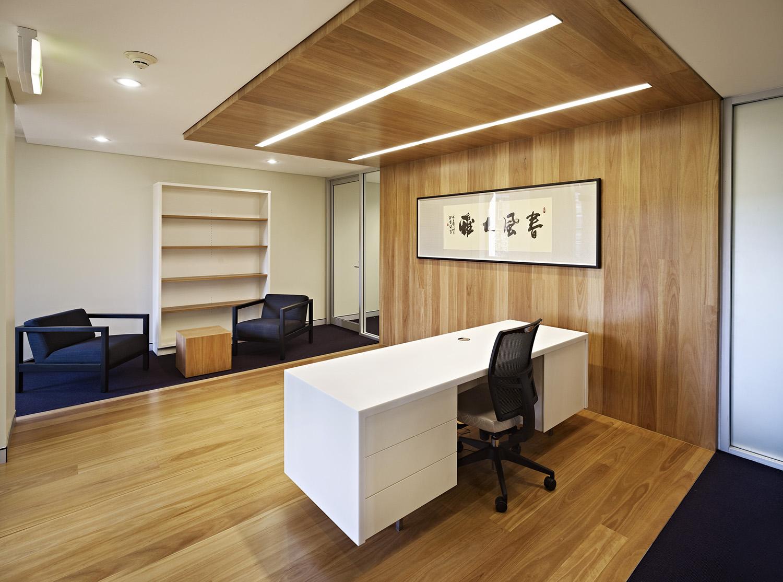 UNSW Confucius Institute WorkplaceReception Desk and Foyer Interior Design – Gardner Wetherill GW 2