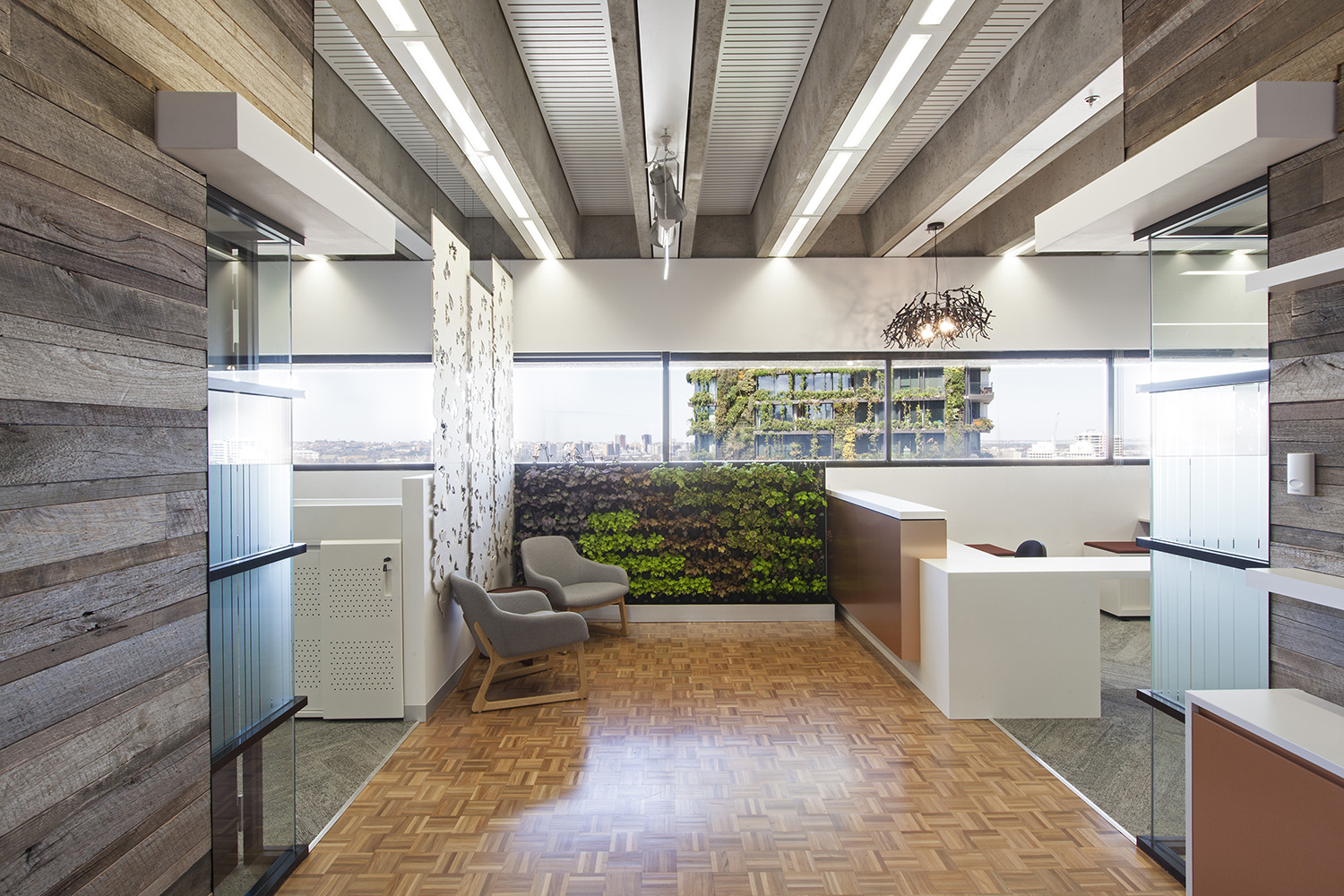 UTS Building 1 Levels 20 & 21 Office and Workplace Reception Desk and Foyer Interior Design – Gardner Wetherill GW 1