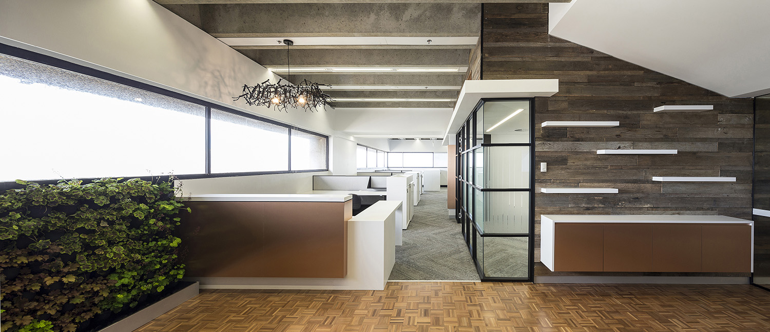 UTS Building 1 Levels 20 & 21 Office and Workplace Reception Desk and Foyer Interior Design – Gardner Wetherill GW 5