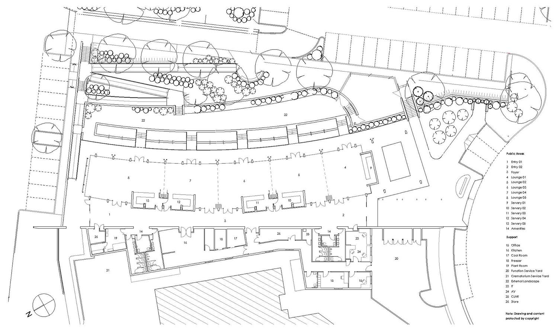 Wallumatta Function Centre Macquarie Park Cemetery Architectural Precinct Plan – Gardner Wetherill GW 8