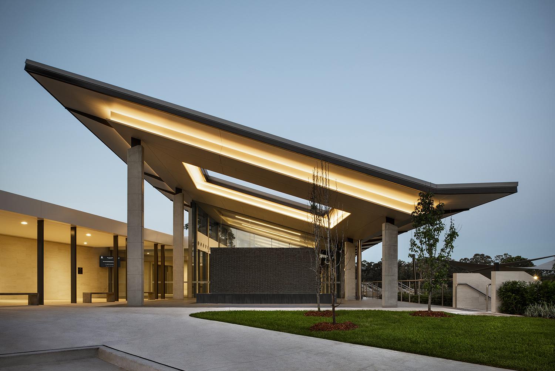 Wallumatta Function Centre Macquarie Park Cemetery Entry Architectural Facade – Gardner Wetherill GW 1