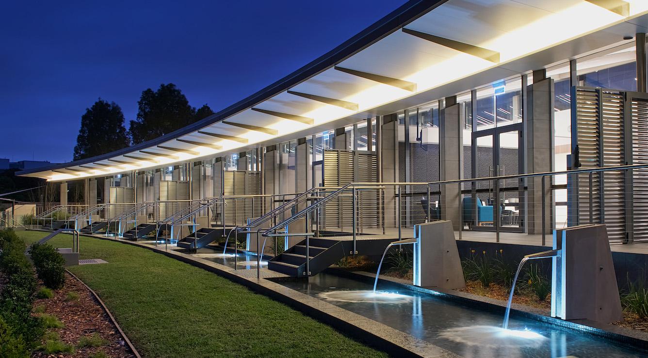 Wallumatta Function Centre Macquarie Park Cemetery Exerior Night Time – Gardner Wetherill GW 7