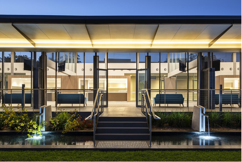 Wallumatta Function Centre Macquarie Park Cemetery Exterior Water Feature Design – Gardner Wetherill GW 3