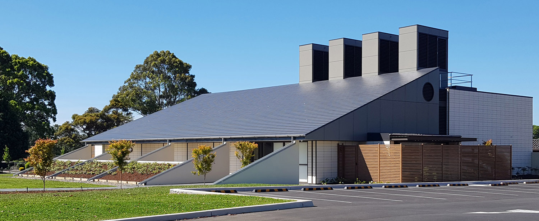 Woronora Cremator Exterior Facade – Gardner Wetherill GW 1