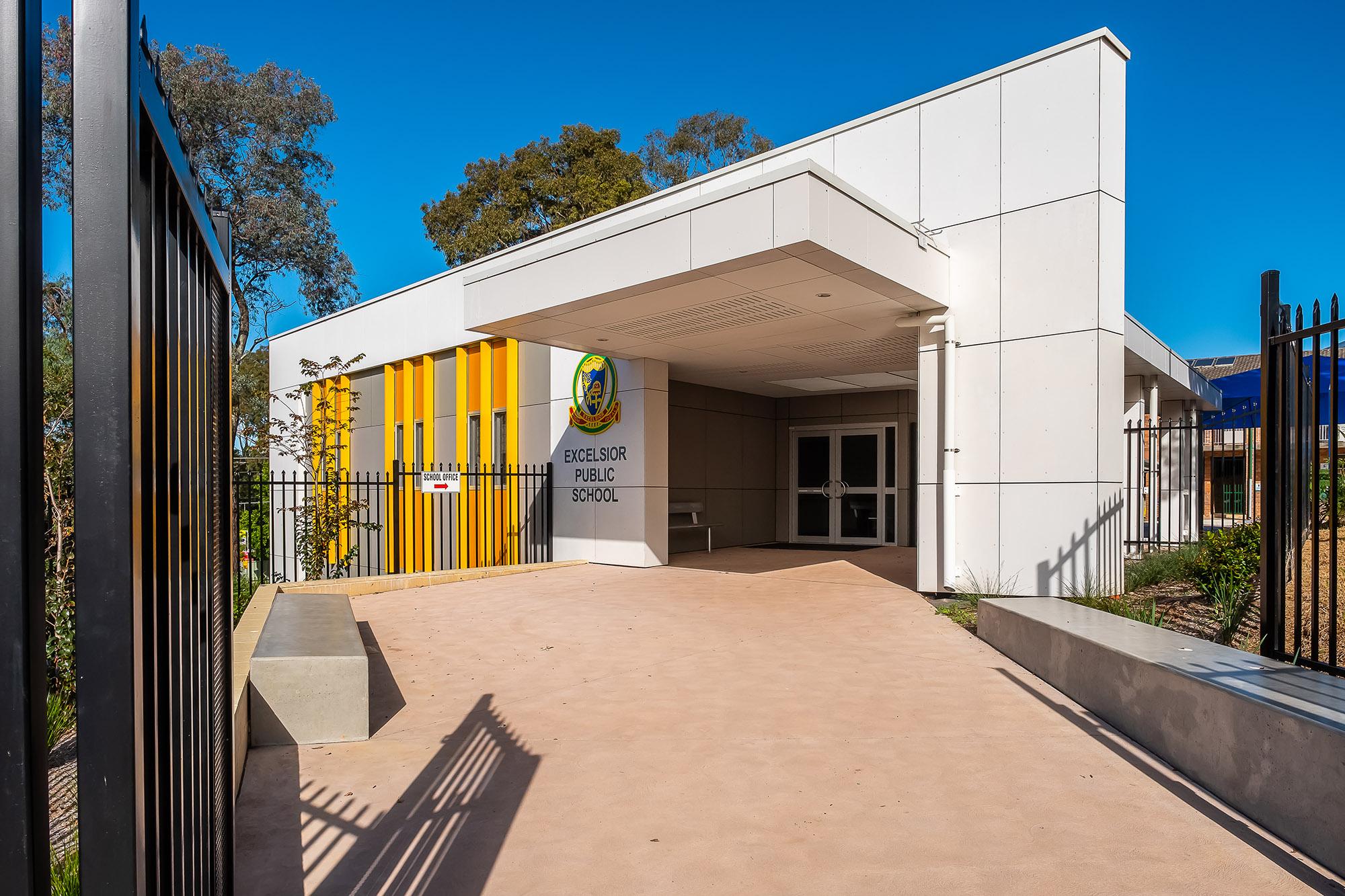 Excelsior Public School Front Entrance – Gardner Wetherill GW 2