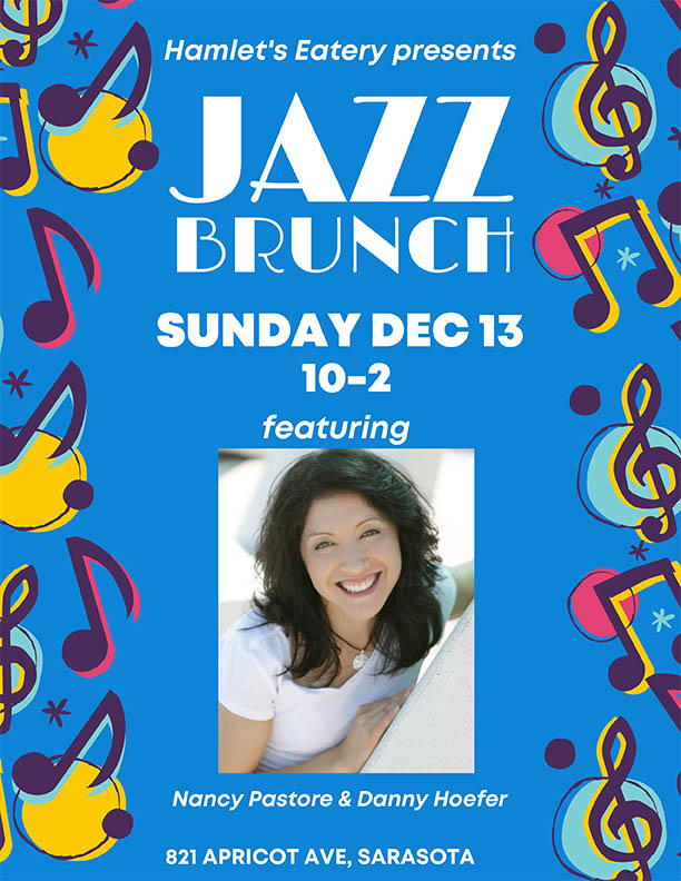 December 13 Jazz Brunch at Hamlet's Eatery in Sarasota