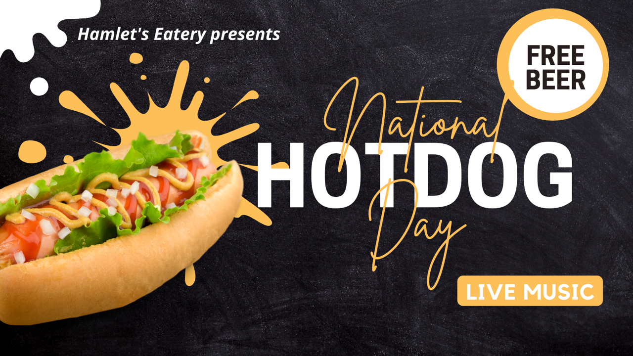 National hot dog day at Hamlet's Eatery in Sarasota